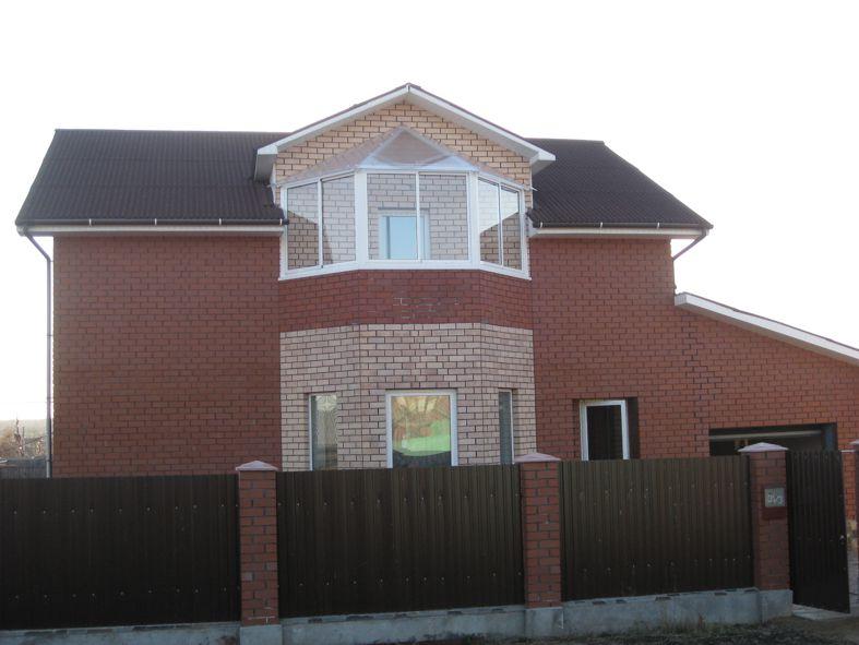 Фото остекления открытых балконов эркеров частных домов..