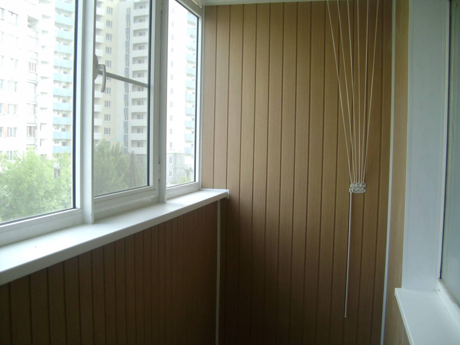 Внутренняя отделка балкона панель пвх.